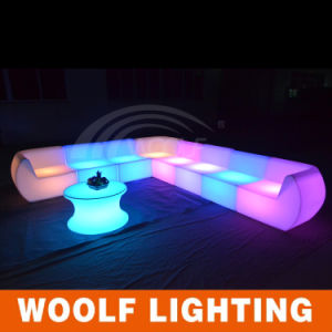 Modern Life Comfortable Colorful LED Light Sofa pictures & photos