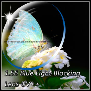 1.56 Blue Light Blocking Lens UV++ pictures & photos