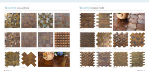 Penny Round Wall Decoration Copper Made Mosaic (CFM1033) pictures & photos