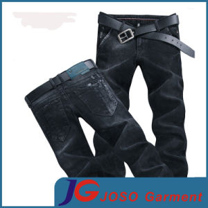 Black Fitted Skinny Jeans with Slant Pocket (JC3401) pictures & photos