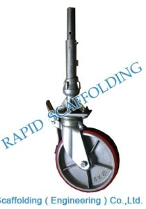 Cuplock Scaffolding Caster with Adapter Scaffolding Accessory pictures & photos