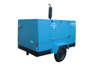 Screw Diesel with Wheels Portable High Pressure Compressor (PUD08-14) pictures & photos