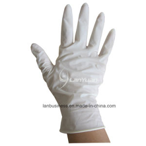 Large Latex Powdered Examination Gloves pictures & photos