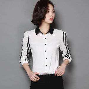 2016 Spring New Desing Woman Slim Chiffon Long Sleeves Shirt pictures & photos