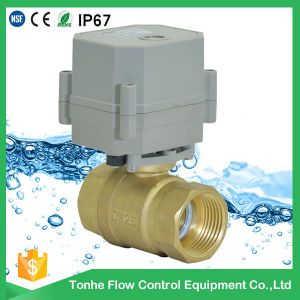 "1"" Inch Brass DC12V 24V Motorized Electric Water Ball Valve Normally Closed pictures & photos"