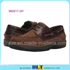 Economic Leather Boat Shoes for Men pictures & photos