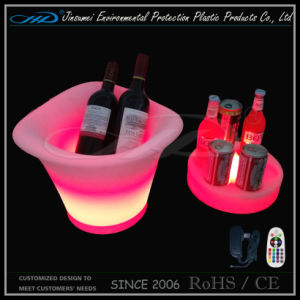 LED Illuminated Ice Bucket for Beer Bottles Holdering pictures & photos