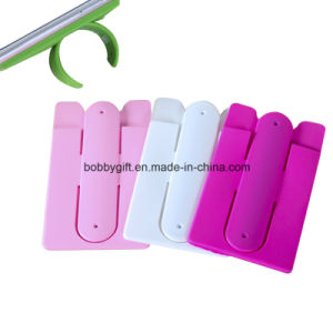 Silicone ID Card Holder Mobile Phone Support pictures & photos