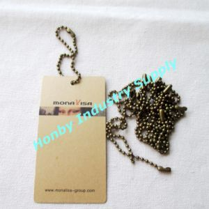 Bronze Color 15cm Long 2.4mm Metal Ball Chains Hang Tag String for Garment (P160711B)