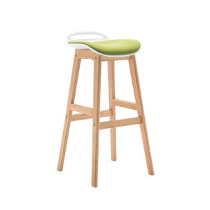 Good Quality Club Soft PU High Bar Chair with Wooden Legs (FS-PB006V) pictures & photos