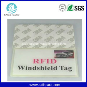 Readable and Writable Anti-Tear UHF RFID Windshield Adhesive Label pictures & photos