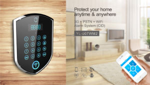 2016 APP Control Touch Keypad Wireless GSM SMS Home House Security Alarm System pictures & photos