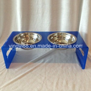 Custom Acrylic Fancy Feeder Raised Dog Bowl for Small Dogs pictures & photos
