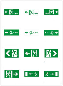 ABS Body Material 2.5W LED UL Running Man Exit Signs for North American Market pictures & photos