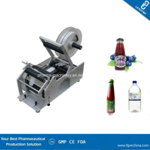 Semi Automatic Desk Type Round Bottle Labeler pictures & photos
