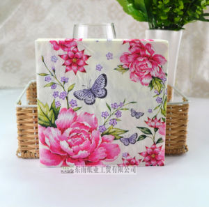 Printed Paper Napkin with Color Printed