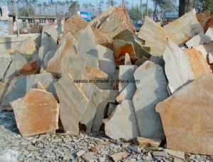 Wholesale Natural Rusty Irregular Slate for Paving pictures & photos