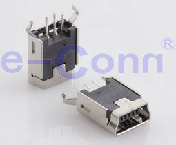Mini USB B Type Female Verticle DIP Recceptacle Conn pictures & photos