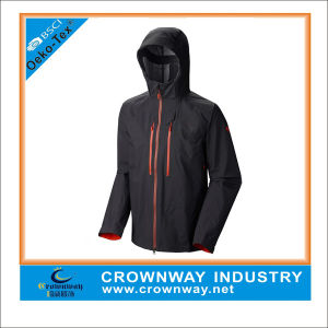 Hooded Breathable Rain Waterproof Jacket for Men pictures & photos