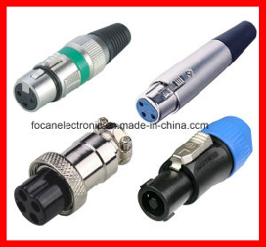Microphone XLR Connector, Audio Plug, Cannon Connector pictures & photos