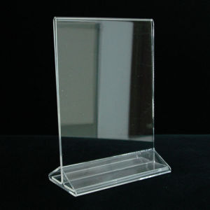 Best-Selling Transparent Acrylic Menu Holder pictures & photos
