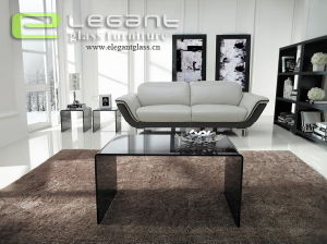 New Grey Glass Nested Table Furniture Supplier pictures & photos