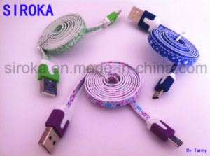 Colorful Flat Jelly USB2.0 Data Cable for Smart Phone pictures & photos
