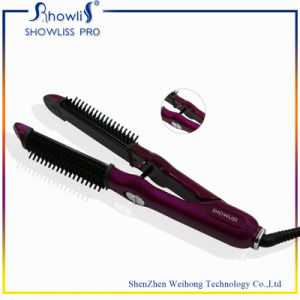 Hot Straightening Irons Come with LCD Display Electric Straight Hair Comb Brush pictures & photos