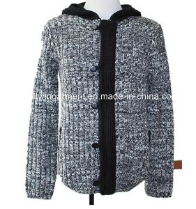 Men Knitted Long Sleeve Full Fashion Clothes with Buttons (M15-062)