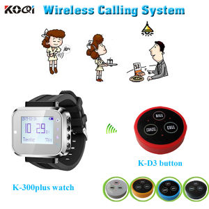 Waiter Paging Caller System Watch Pager Receiver with Bell Button pictures & photos
