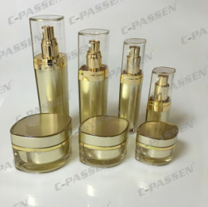 Luxury Cosmetic Packaging Gold Acrylic Cream Jar Container Bottle (PPC-CPS-062) pictures & photos