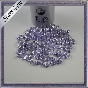 Oval Brilliant Diamond Cut Lavender Color American Diamond CZ pictures & photos