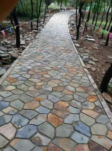 Popular Crazy Stone Irregular Slate Paving Stone pictures & photos