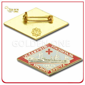 Customized Gold Plated Soft Enamel Cross Flag Metal Lapel Pin pictures & photos