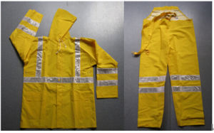 Waterproof Safety Workers Rain Coat with High Reflective Strip pictures & photos