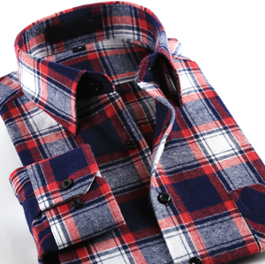 Men′s Fashion Brand Checked Flannel Dress Shirt pictures & photos