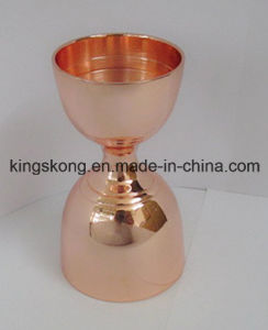 High Quality Cooper Printed Stainless Steel Double Jigger Meausure Cup pictures & photos