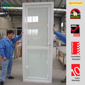 Security Window and Door, PVC Doors with Blinds Inside pictures & photos