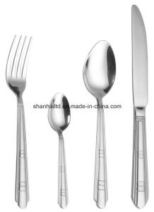 24PCS Stainless Steel Cutlery with Wood Case pictures & photos
