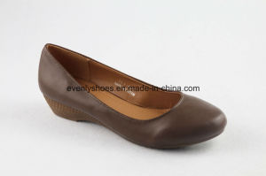 Hot Sales Fashion Female PU Shoes with Heighten Heel pictures & photos