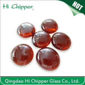 Amber Flat Back Fire Pit Glass Beads pictures & photos