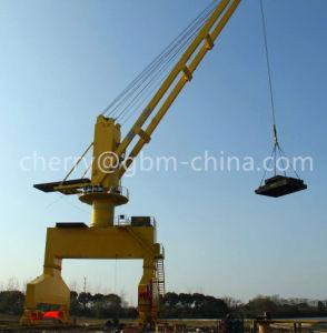 Gbm Rail Mounted Port Crane Mobile Harbor Crane Marine Offshore Cranes pictures & photos