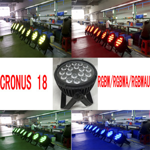 New! 18 PCS* 12W 6 in 1 Rgbwau LED Stage Light Cronus 18 Rgbwau 6 in 1