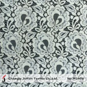 Cotton Fabric Ivory Bridal Lace Wholesale (M3406-G) pictures & photos