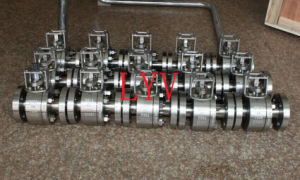 Floating Lever Operation Flange End Two Pieces Body Ball Valve pictures & photos