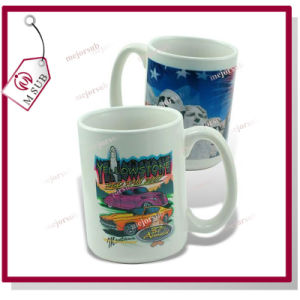 15oz White Coated Sublimation Mug by Mejorsub pictures & photos