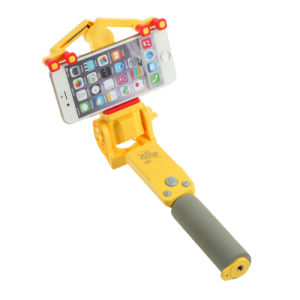 Electric Rotary Bluetooth Shutter Button Cellphone Selfie Stick Handheld Monpod