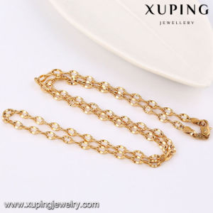 42944 Fashion Cool Sample 18k Gold-Plated Alloy Copper Imitation Jewelry Chain Necklace pictures & photos
