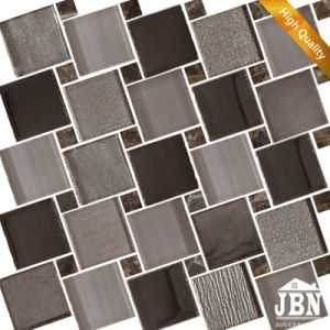 European New Design Wall Decoration Grey Color Glass Mosaic (M855162) pictures & photos