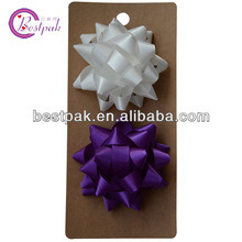 Purple Star Polyester Ribbon Bow